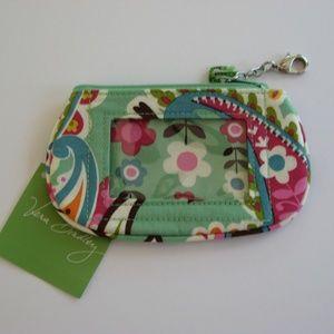 Vera Bradley Clip Zip ID Case Tutti Frutti
